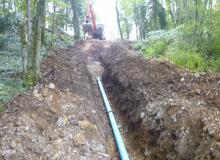 Pose de canalisation eau potable ZMU PAM
