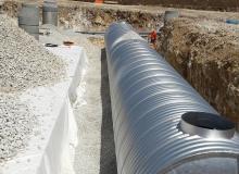 Réservoir de stockage des eaux pluviales et bassin de rétention