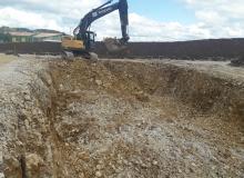 terrassement pour bassin de rétention des eaux pluviales
