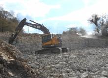 Terrassement en peine masse et broyage pierres