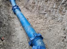Pose canalisation fonte PAM DN 300