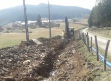 creusage fouille pour canalisation