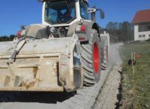 Traitement du sol en place pour création de chemins d'accès aux paturages
