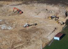 Terrassement en pleine masse pour bâtiments agricoles