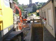 Début des travaux de réhabilitation des réseaux humides et secs