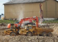 Début des travaux de terrassement en pleine masse