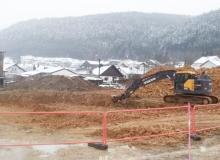 début des travaux de terrassement