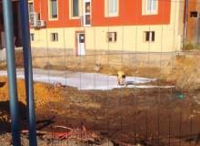 Pose géotextile après travaux de terrassement