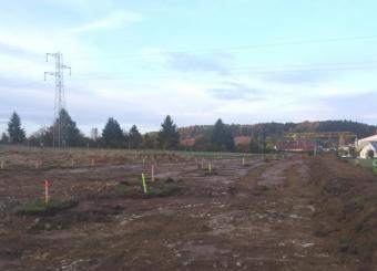création voirie Décapage terre végétale , terrassement en pleine masse