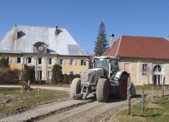 Rénovation chemin rural par traitement du sol en place