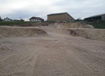 Fond de fosse après broyage de pierres