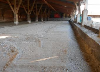 Réalisation du traitement de sol d'un 2° bâtiment de la même exploitation agricole Mai 2015