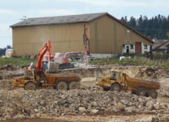 Terrassement pour bâtiment agricole
