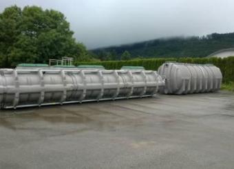 Filière d'assainissement 35 EH,constituée d'une  fosse toutes eaux 20 m3 + système d'épuration